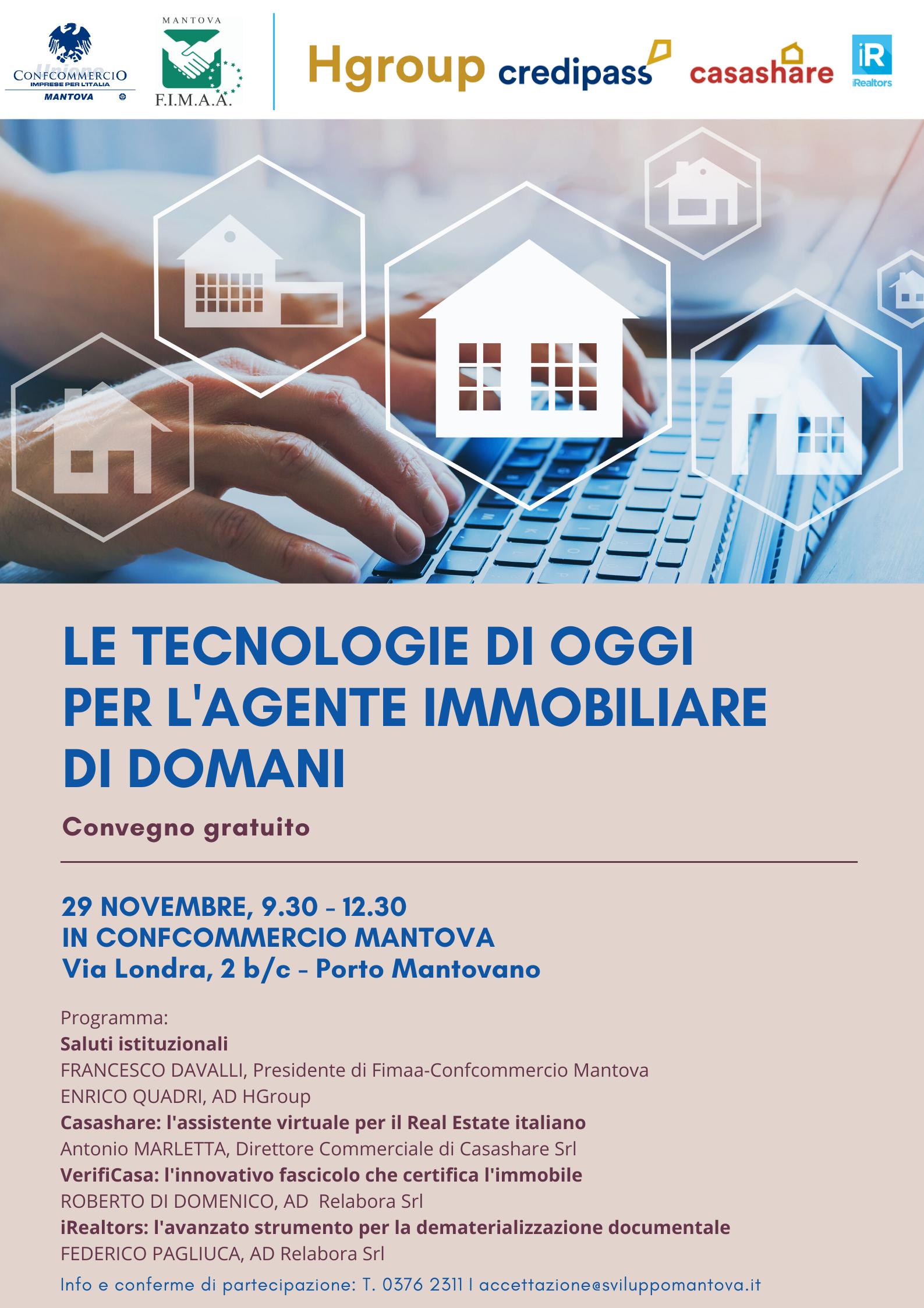 Agenzie Immobiliari Mantova confcommercio, venerdì 29 novembre workshop sulle nuove